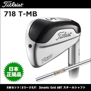 取寄せ商品 Titleist(タイトリスト) 718 T-MB アイアン 6本セット(♯5〜♯9,P) Dynamic Gold AMT スチールシャフト ゴルフクラブ|somethingfour
