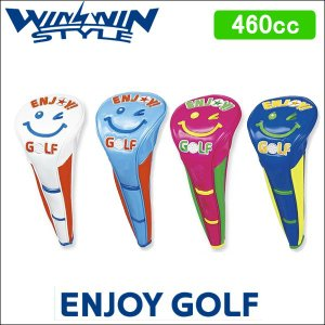 大特価 WINWIN STYLE(ウィンウィンスタイル) ENJOY GOLF エンジョイゴルフ ドライバー用 460cc マグネット開閉式 ヘッドカバー|somethingfour