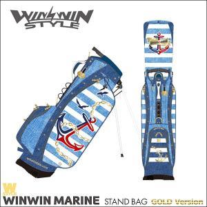 取寄せ商品 WINWIN STYLE ウィンウィンスタイル WINWIN MARINE STAND BAG GOLD Ver. キャディバッグ|somethingfour