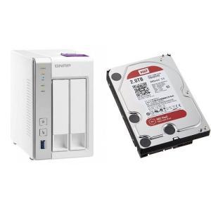 セット買い:NASキット+WD Red HDD 2TB 1台QNAP(キューナップ) TS-231P...
