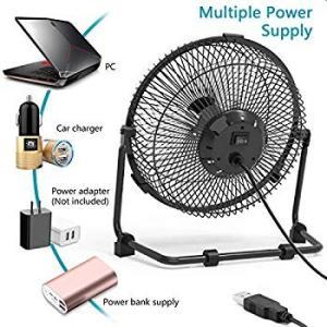 送料無料 OPOLAR 9 inch USB Desk Fan, USB Powered ONLY ...