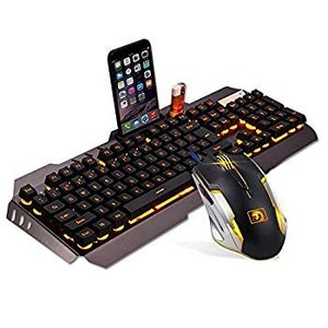 Cywulin Gaming Mouse Gaming Keyboard Combo Mechani...