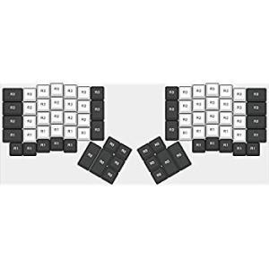 送料無料 YMDK Cherry Profile Thick PBT Top Print Ergodox Keycap Set for Ergo Er sonanoa