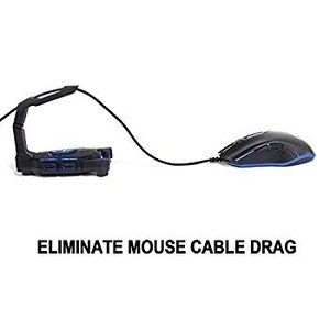 NPET H01 Gaming Mouse Bungee Cord Holder with 4-Po...