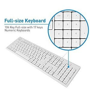Macally Full-Size USB Wired Keyboard for Mac Mini/...
