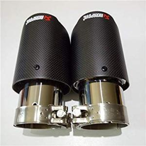 送料無料 Fincos 2X Customizable Akrapovic Carbon Fiber Exhaust Tip/Muffler End|sonanoa
