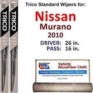 ワイパーブレード2010日産ムラーノのためのドライバー&パッセンジャートリコスチールWIP Size...