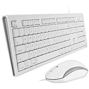Macally Full Size USB Wired Keyboard & Mouse C...