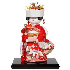 幅16 ×奥行11 ×高さ24 (cm) 【商品内容】木目込み人形完成品・飾り台(黒)・箱付き