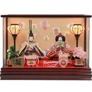 雛人形 No.306-113 雛人形 ケース入り 親王飾り ...