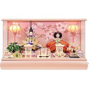 雛人形 No.306-88 オルゴール付アクリルケース 親王飾り コードレスぼんぼり soneningyo
