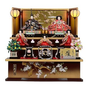 雛人形 久月 No.309-67 【1316】 木製三段飾り 久月作 よろこび雛 送料無料 ポイント...