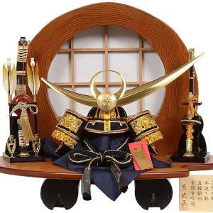 No.504-53 五月人形 杉丸太の飾り台が目を惹く 大鍬形の兜をセットした兜飾り【上杉謙信】10号サイズ|soneningyo