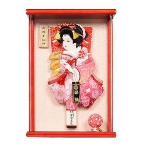 No.700-24 額入り こころ 壁掛け 羽子板 初正月 ミニサイズ 羽子板飾り。