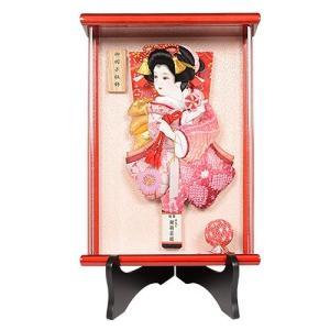 No.700-25 額入り 専用スタンド付 こころ 壁掛け 羽子板 初正月 ミニサイズ 羽子板飾り。