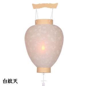 新盆用白紋天提灯。店長おすすめの目玉商品です。【G59SM1022L】|soneningyo