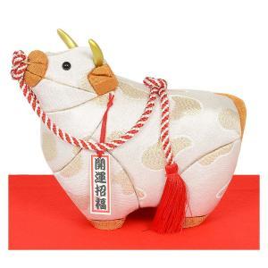 ギフトに最適な 木目込み人形 完成品 No.2126-A 祝い丑(白) 干支 2021年 令和三年 丑 うし ウシ soneningyo
