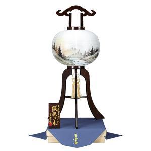 木製の大内盆提灯。送料無料・銘木鉄刀木(たがやさん)は、唐木三木の一つとして有名です。【F37OU12-602】|soneningyo