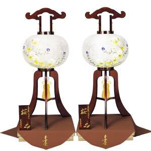 木製の大内盆提灯。送料無料・古来より伝統や文化に深く結びついた「桜」の木を使用した盆ちょうちんです。【F38OU12-601W】|soneningyo