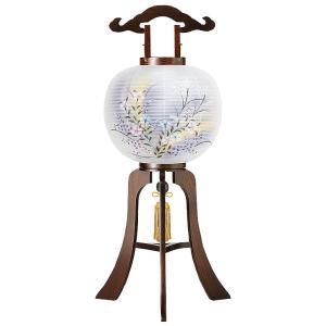 木製の大内デザイン盆提灯「撫子」。送料無料・黒檀調の重厚感が魅力です。【G11OU3816】|soneningyo