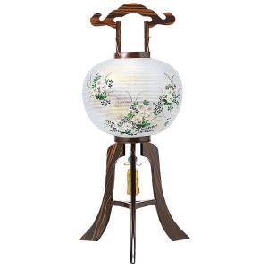 木製の大内デザイン盆提灯「撫子」。送料無料・黒檀調の重厚感が魅力です。【G12OU4217】|soneningyo