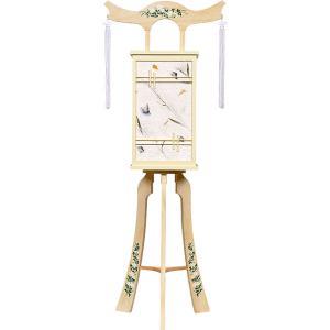 白を基調にした神道用の木製盆提灯送料無料・スタイリッシュな新デザインが素敵です。【G36ST8438】|soneningyo
