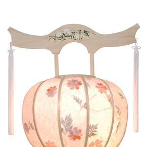 明日着く商品!白を基調にした神道用の木製盆提灯送料無料・毎年一番人気のちょうちんです。【G36ST8425】|soneningyo|02