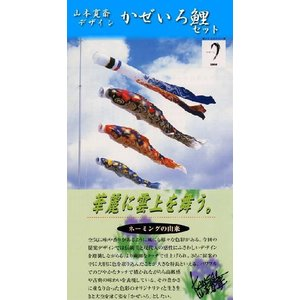 【6m6点】 【かぜいろ】 お庭用 【吹流し・黒鯉・赤鯉・青鯉】 (ポールは別売り) soneningyo