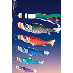 【2m】古典鯉幟 夢はるか 庭園用 ガーデンセット 6点 徳永鯉のぼり|soneningyo