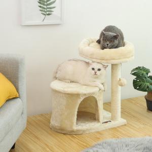 【初めのタワーにピッタリ】ステップしやすく作られた段差は子猫やジャンプ力の弱い子にも簡単に登られ、運...