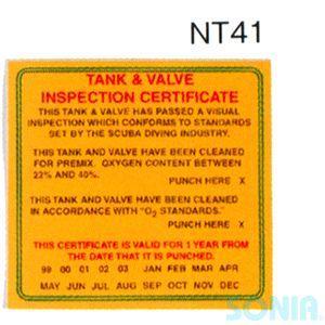 HUSE(ヒューズ) 【1403/1404】 NITROX NT41 検査ステッカー/NT42 タンク内容証明ステッカー|sonia