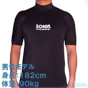 SONIA(ソニア)【フェイサー】 ラッシュガード半袖【ロゴ有/男性4L・5L】|sonia