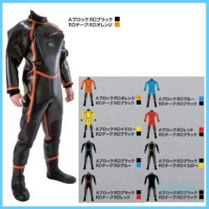 ZERO(ゼロ) 【ORD-34/ORD-54/ORD-64】 K'sプロ2 ドライスーツ 3.5mm/5.0mm/6.5mm(Aブロック:RDオレンジ/RDテープ:RDオレンジ)|sonia