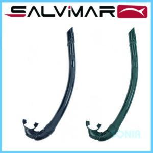 SALVIMAR(サルビマール) 【700100B/G】 SILICONAR black/green シリコネアー スノーケル|sonia