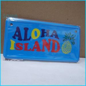 【即納】Hula Hawaii(フラハワイ) 【0805156000509】 HH ミニライセンスプレート ALOHA ISLAND|sonia
