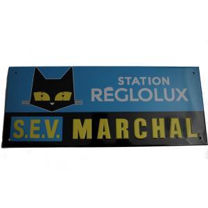 黒猫のイラストで知られるフランスのSEV MARCHAL(セブマーシャル)のリプロダクトのサインプレ...