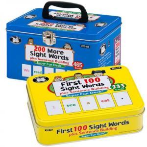 電子おもちゃ Sight Words plus Sentence Building Fun Deck Card Combo - Super Duper Educational Learning Toy for Kids|sonicmarin
