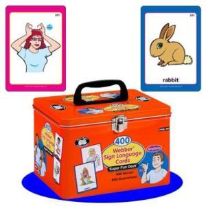 電子おもちゃ 400 American Sign Language Cards Fun Deck - Super Duper Educational Learning Toy for Kids|sonicmarin