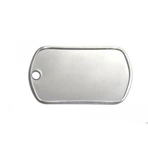 2 in 1 PC Engravable Blank GI Joe Military Stainless Steel Dog Tag Name Pendant 50 Pcs|sonicmarin