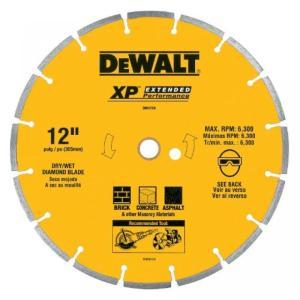 デウォルト DEWALT DW4716 Industrial 12-Inch Dry Cutting Segmented Diamond Saw Blade with 1-Inch Arbor sonicmarin