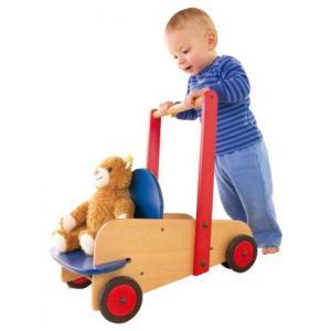 乗り物おもちゃ HABA Walker Wagon - First Wooden Push Toy with Seat & Storage for 10 Months and Up (Made in Germany)|sonicmarin