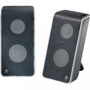 2 in 1 PC Logitech V20 Notebook Speakers (Black)|sonicmarin