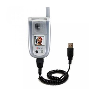 2 in 1 PC Gomadic USB Charging Data Coiled Cable designed for the Sanyo MM-8300 MM-9000 Will charge and data sync with one unique TipExchange enabled|sonicmarin