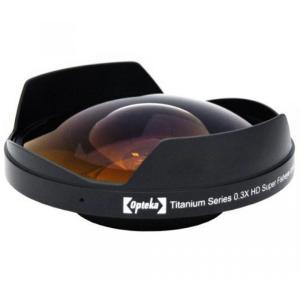 アクションカメラ Opteka OPT-SC58FE Titanium Series 58mm 0.3X HD Super Fisheye Lens for Professional Video Camcorders|sonicmarin