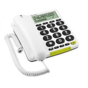 SIMフリー スマートフォン 端末 PhoneEasy 312cs - Telefon mit Schnur mit Rufnummernanzeige - wei?|sonicmarin