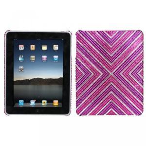 SIMフリー タブレット 端末 Hard Plastic Snap on Cover Fits Apple iPad Cautions Full DiamondRhinestone|sonicmarin