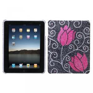 SIMフリー タブレット 端末 Hard Plastic Snap on Cover Fits Apple iPad Tulip Full DiamondRhinestone|sonicmarin