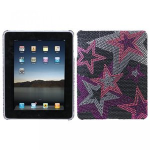 SIMフリー タブレット 端末 Hard Plastic Snap on Cover Fits Apple iPad Super Star Full DiamondRhinestone|sonicmarin
