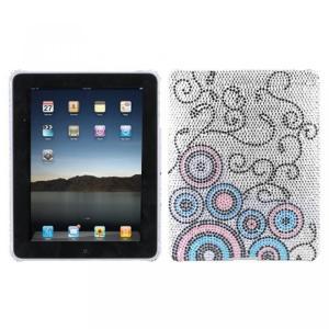 SIMフリー タブレット 端末 Hard Plastic Snap on Cover Fits Apple iPad Bubble Flow Full DiamondRhinestone Back|sonicmarin