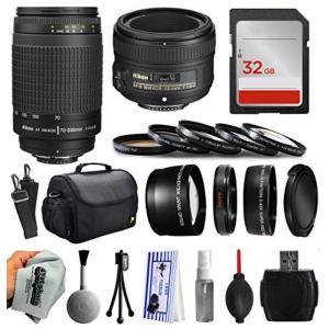 アクションカメラ Beginner Accessories Bundle for Nikon DF D7200 D7100 D7000 D5500 D5300 D5200 D5100 D5000 D3300 D3200 D3100 D300S D90 includes Nikon